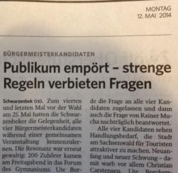 Auch in der Bergedorfer Zeitung sind nur Nebensächlichkeiten zu finden