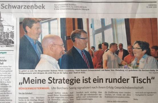 Das erste Interview der frisch gebackenen Bürgermeisterkämmerin, natürlich in  der BZ
