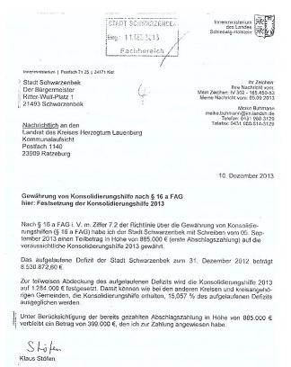 Das Schreiben aus Kiel (click to read)