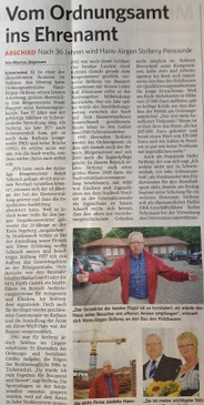 Ein würdigender Artikel in der Bergedorfer Zeitung